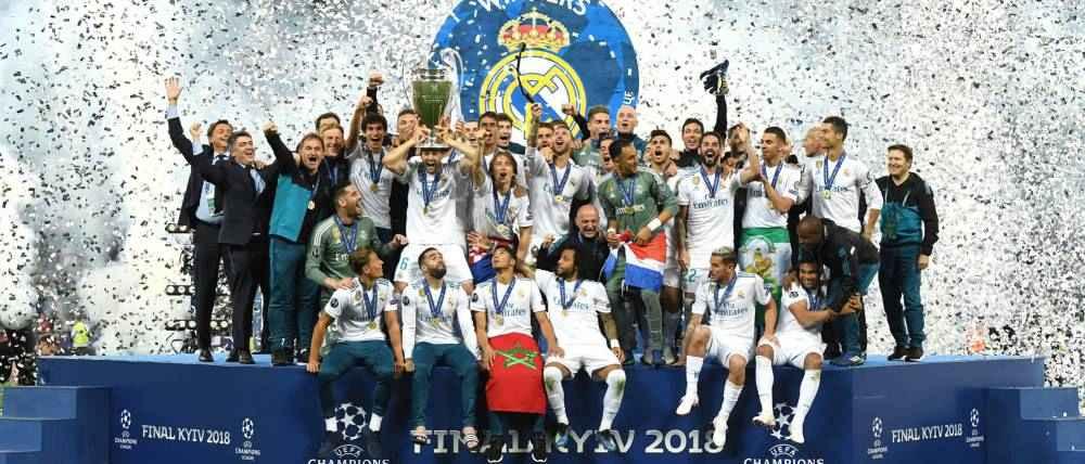 جشن قهرمانی رئال مادرید در فینال لیگ قهرمانان اروپا
