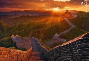 دیوار چین تصویری زیبا از دیوار چین