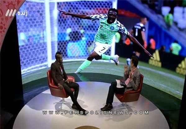 شایعات جام جهانی حضور گادوین منشا با موهای عجیب در تلوزیون