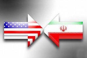 پرچم ایران و آمریکا جنگ با ایران