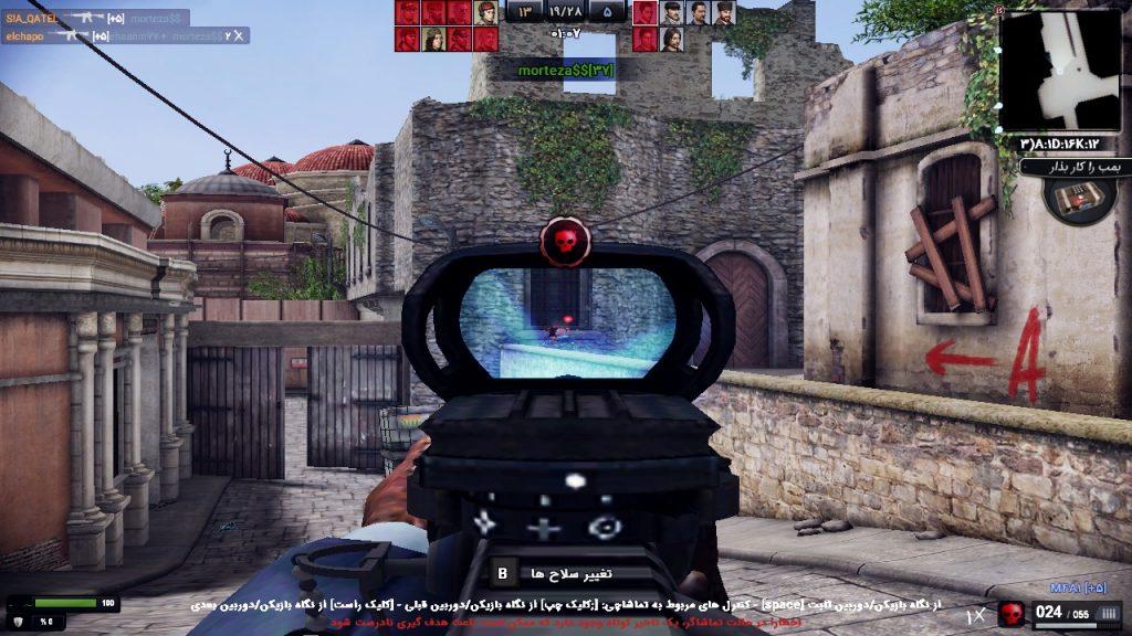 اسلحه m4a1 در بازی زولا 2