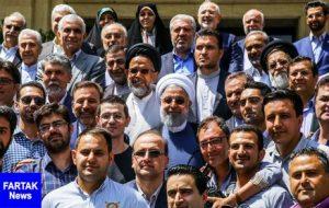 حضور رئیس جمهور روحانی در جمع خبرنگاران