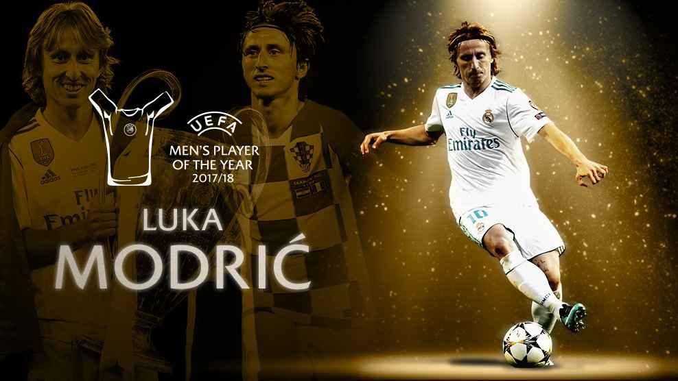 لوکا مودریچ بازیکن سال اروپا