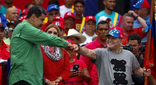 مارادونا و رئیس جمهور ونزوئلا