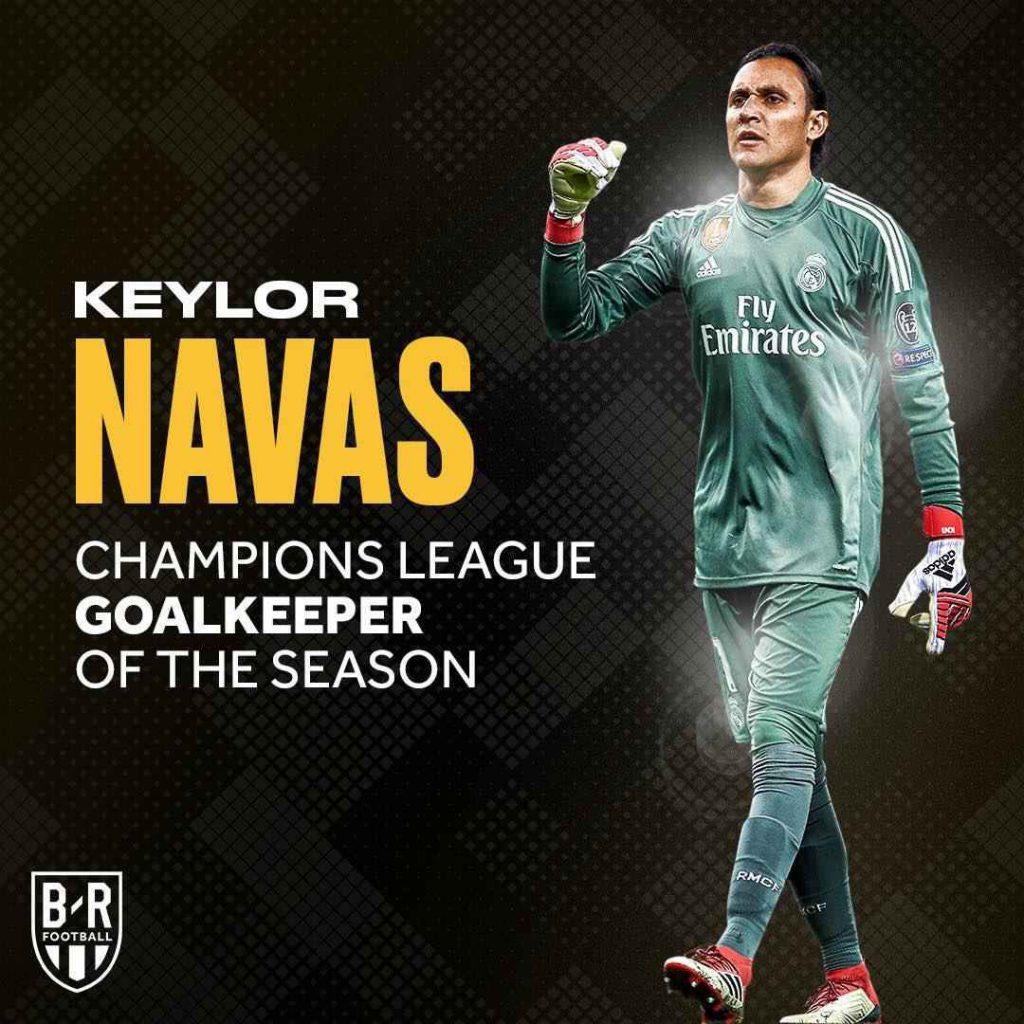 کیلور ناواس بهترین دروازهبان فصل گذشته لیگ قهرمانان اروپا