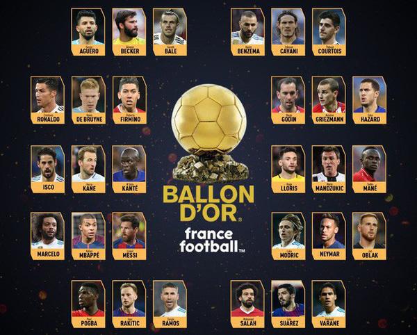 نامزدهای توپ طلای 2018