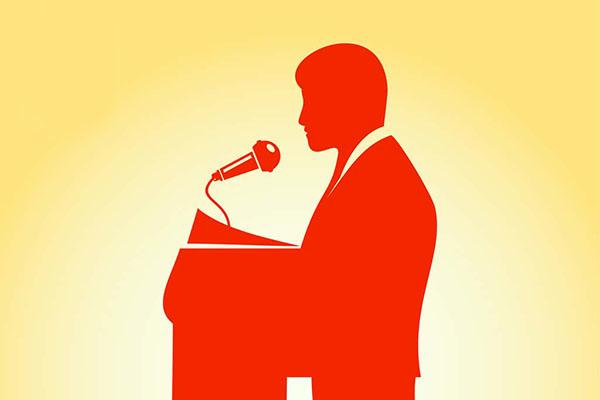 صحبت کردن سخنرانی کردن
