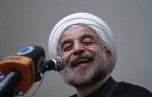 رئیس جمهور حسن روحانی خنده