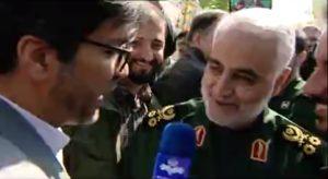 برخورد جالب سردار سلیمانی با خبرنگار صدا و سیما 1