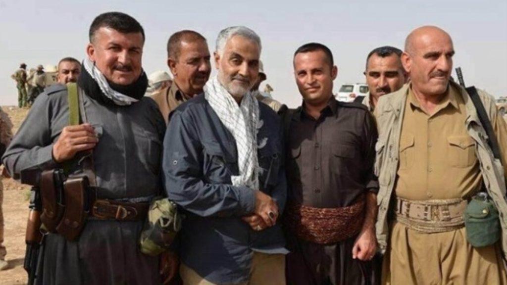 سردار سلیمانی و رهبران اقلیم کردستان