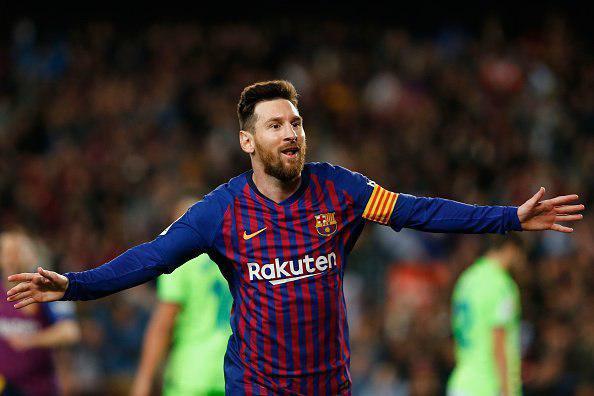 قهرمانی بارسلونا در لالیگا با گل مسی
