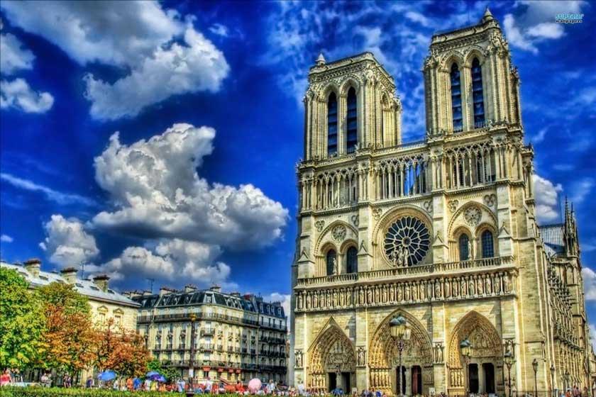 کلیسای نوتردام پاریس قبل از آتش سوزی