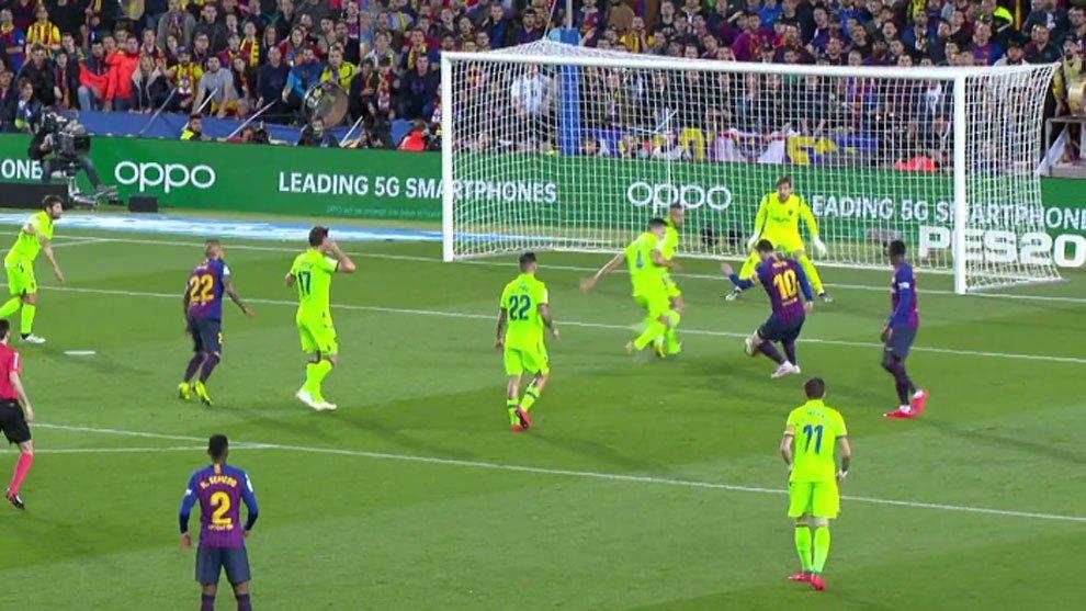 گل مسی به لوانته و قهرمانی بارسلونا