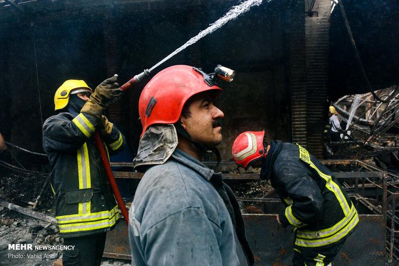 آتش سوزی بازار تبریز 2