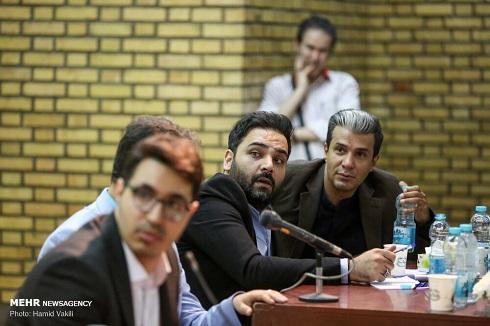 آریا عظیمی نژاد و احسان علیخانی در دانشگاه تهران