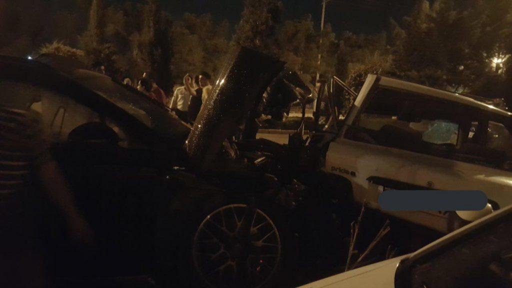 تصادف پورشه و پراید در اصفهان 3