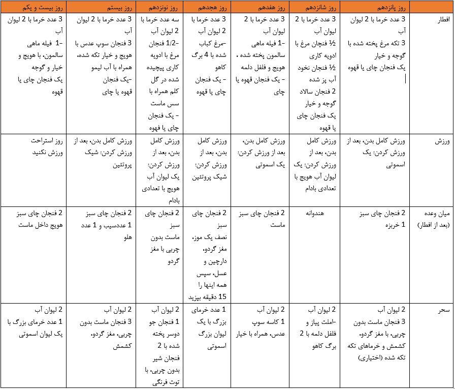 رژیم غذایی ماه رمضان 3
