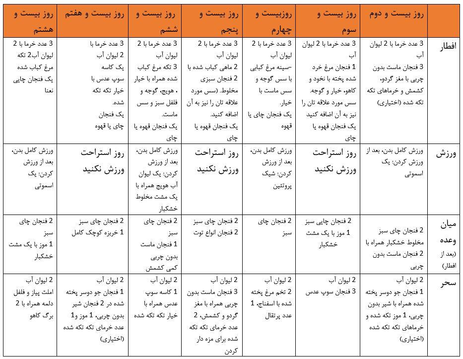 رژیم غذایی ماه رمضان 4