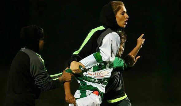 زد و خورد شدید در فوتبال زنان ایران 2