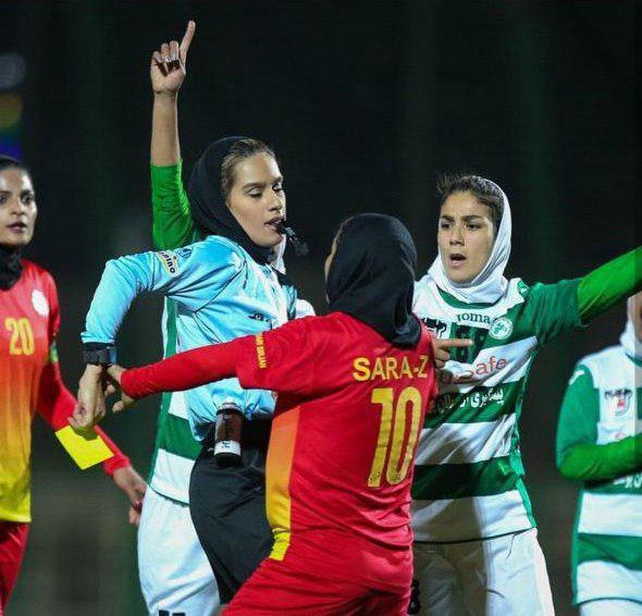 زد و خورد شدید در فوتبال زنان ایران 4
