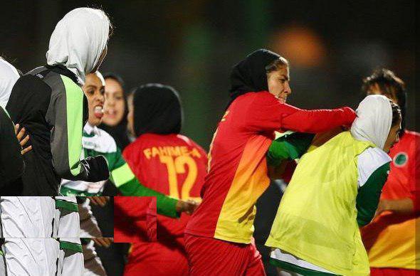 زد و خورد شدید در فوتبال زنان ایران 6