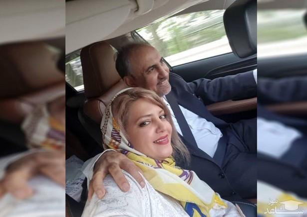 سلفی جنجالی محمد علی نجفی با میترا استاد همسر دومشسلفی جنجالی محمد علی نجفی با میترا استاد همسر دومش