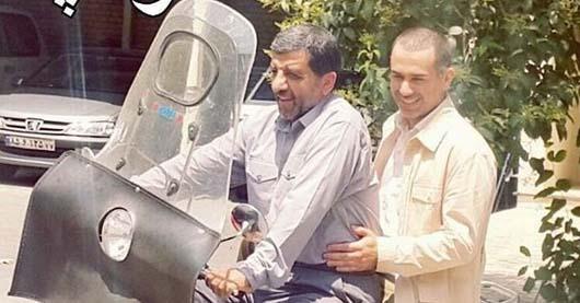 موتور سواری عزت الله ضرغامی و سعید اشناب