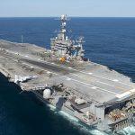 ناو جنگی آمریکا در خلیج فارس + تصاویر