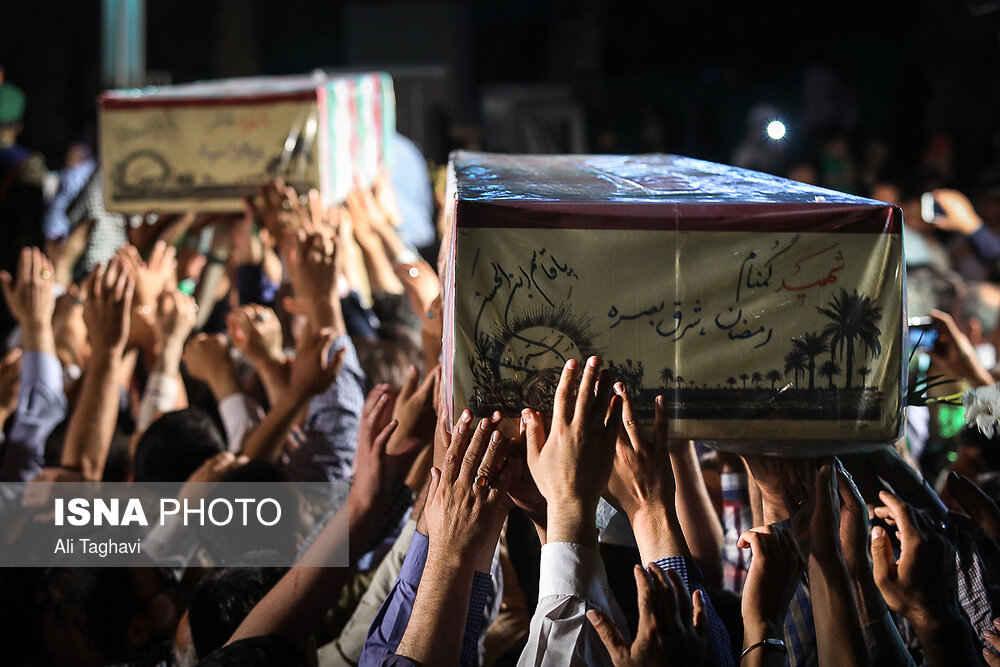 تشییع پیکر ۱۵۰ شهید تازهتفحصشده سالهای دفاع مقدس 13