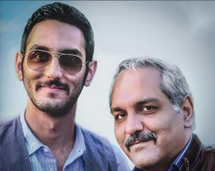 مهران مدیری در کنار پسرش فرهاد مدیری