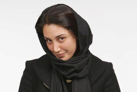 هدیه تهرانی با لباس مشکی