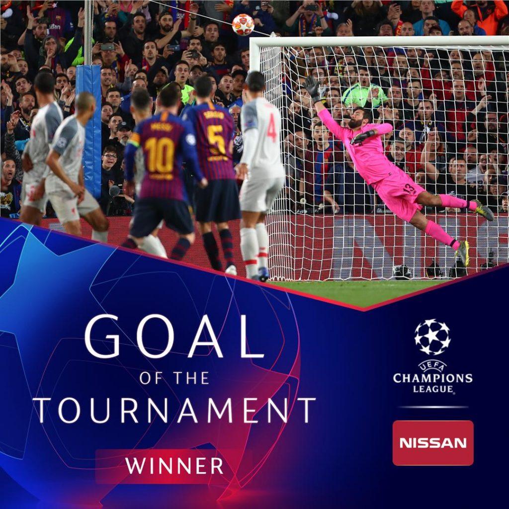 گل مسی به لیورپول بهترین گل از نظر هواداران
