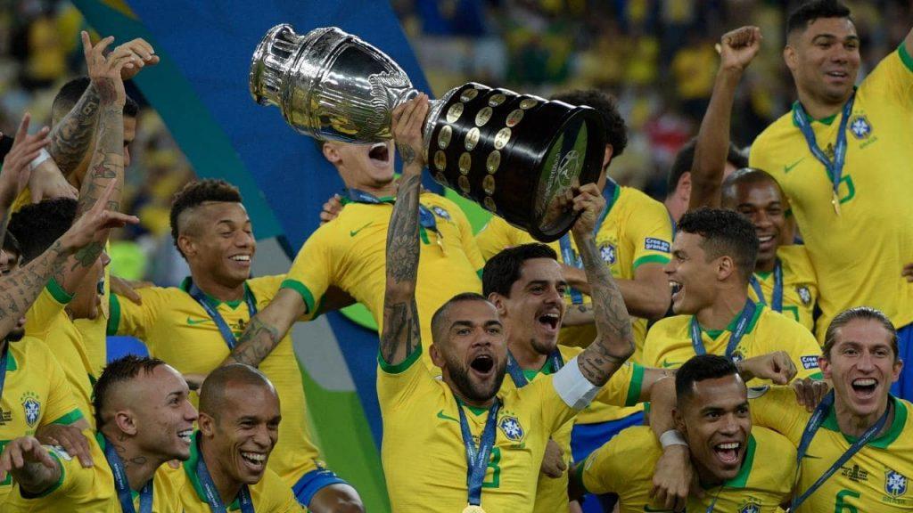 جشن قهرمانی برزیل در کوپا آمریکا 2019