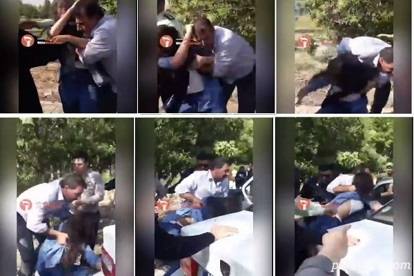 درگیری پلیس با دختر جوان در تهران پارس