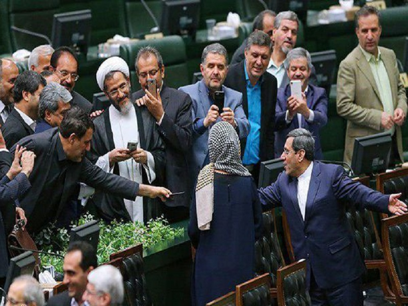 عکس تاریخی نمایندگان مجلس با فدریکا موگرینی