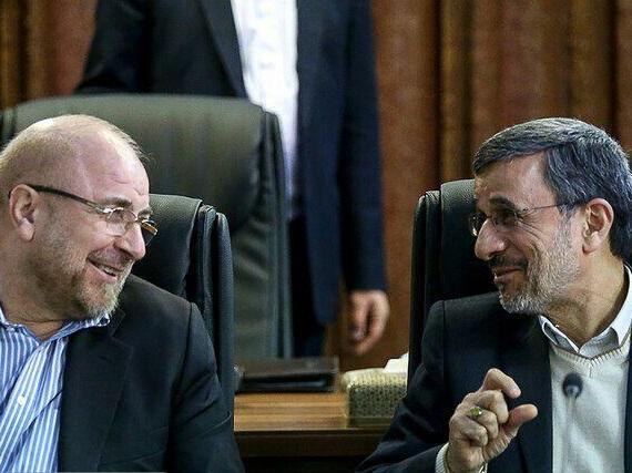 دکتر محمد باقر قالیباف و دکتر محمود احمدی نژاد