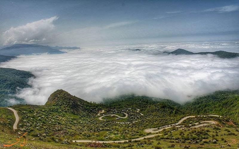 روستای فیلبند مازندران مسیر پر پیچ و خم و رویایی