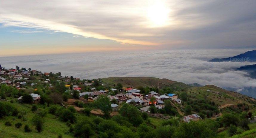 طبیعت چشم نواز روستای فیلبند بر فراز ابرها