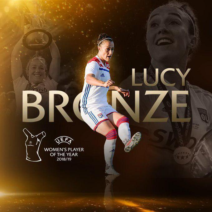 لوسی برونز بهترین بازیکن زن سال 2019 اروپا