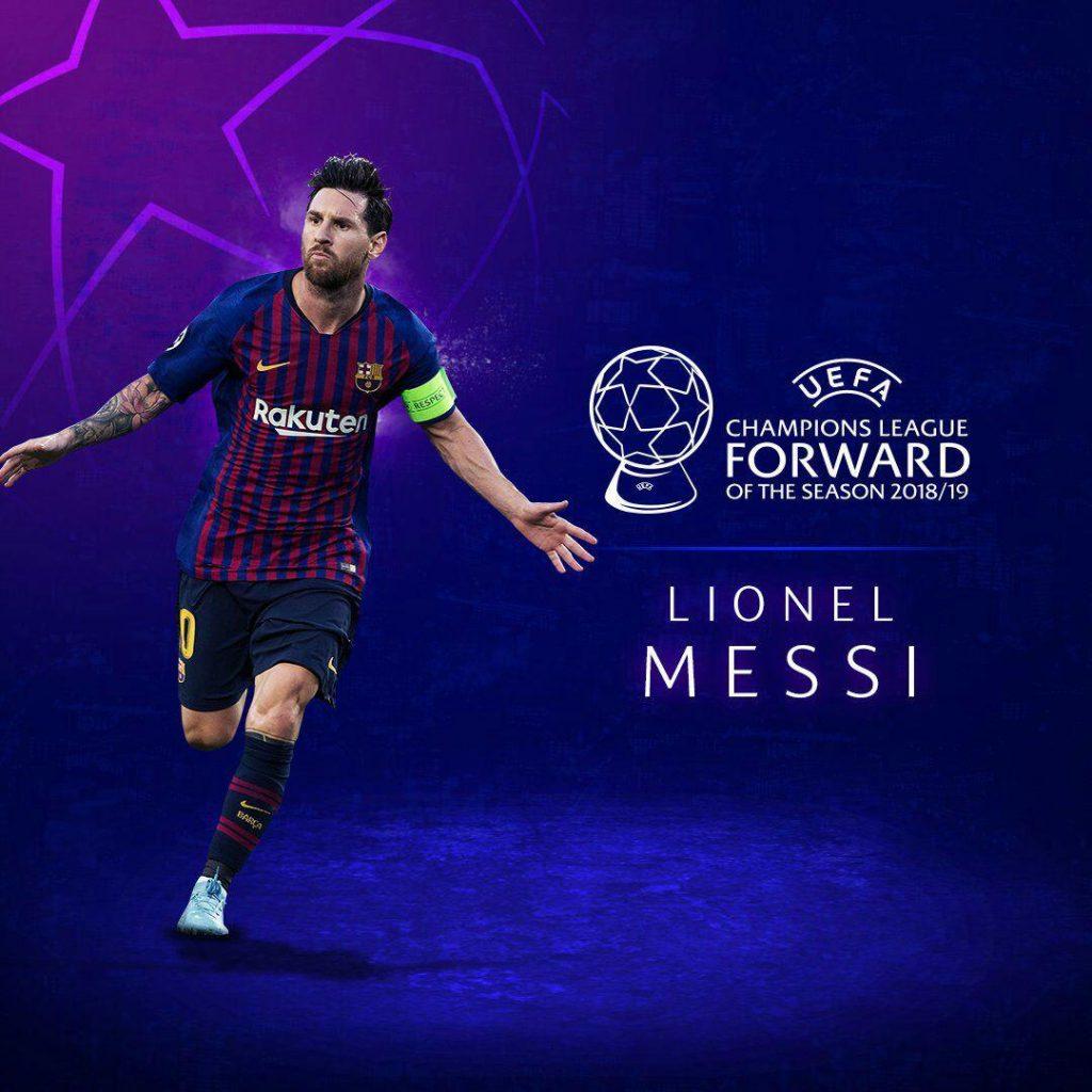 لیونل مسی برترین مهاجم فصل لیگ قهرمانان اروپا