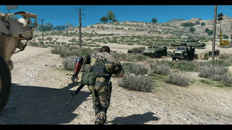 محیط گرافیکی بازی Metal Gear Solid V
