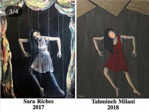 نقاشی تهمینه میلانی و sara riches