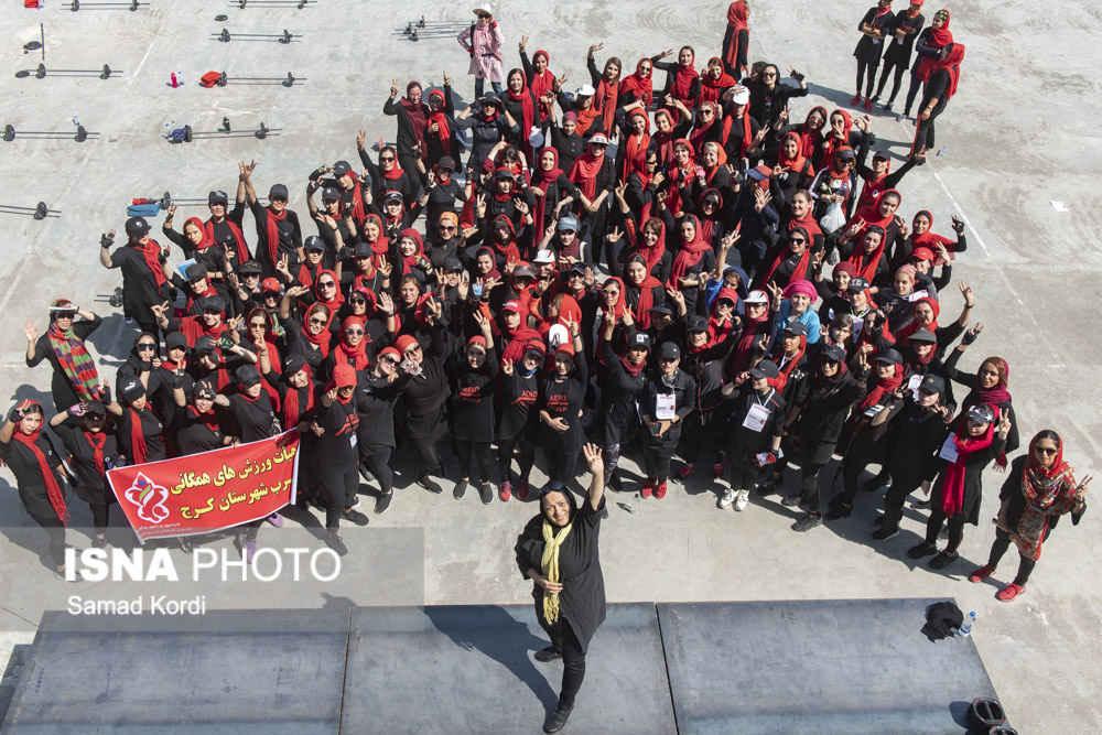 حرکات ورزشی مختلط در همایش ملی ایروپامپ در کرج