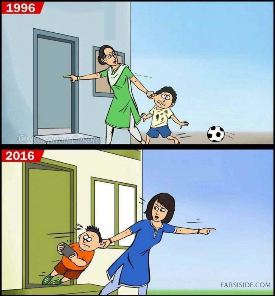 زندگی و تفریح کودکان قبل و بعد از اینترنت به روایت تصویر