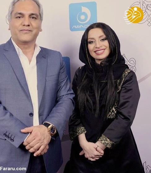 ماندانا سوری در کنار مهران مدیری