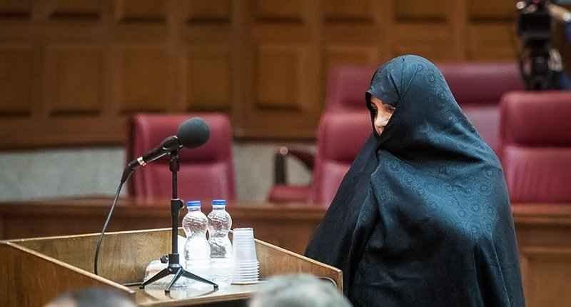 آخرین جلسه دادگاه دختر محمد رضا نعمت زاده. حجاب شبنم نعمت زاده