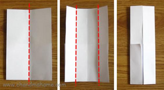آموزش درست کردن جعبه کادو روز پدر مدل لباس مردانه کاغذ را از وسط تا بزنید
