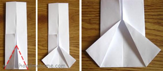 آموزش درست کردن جعبه کادو روز پدر مدل لباس مردانه کاغذ را مثلثی تا بزنید