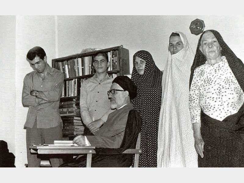 آیت الله طالقانی و خانواده. عکس خانوادگی آیت الله سید محمود طالقانی
