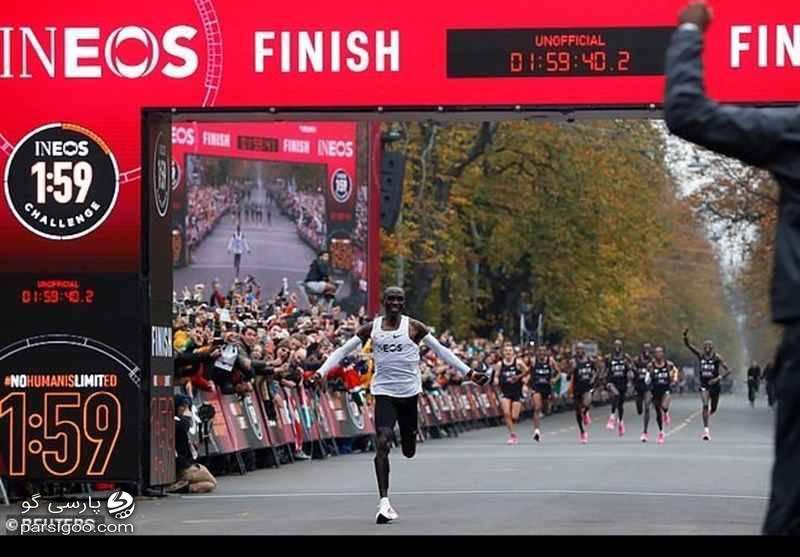 اتمام مسابقه الیود کیپچوگه در مسابقه وین. ثبت رکورد جهانی دو ماراتن
